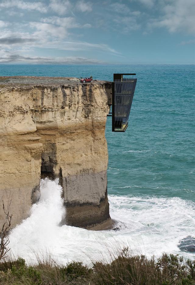 Cliff House: casa emocionalmente panorâmica