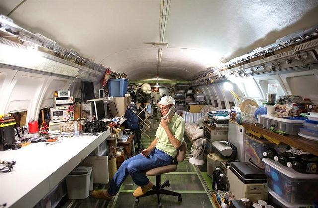 Transformar um avião na própria casa