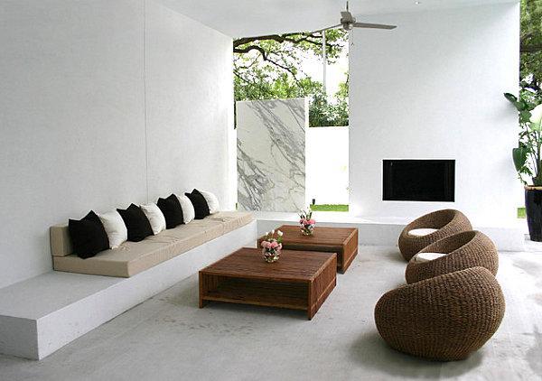 Um pátio lindo e moderno