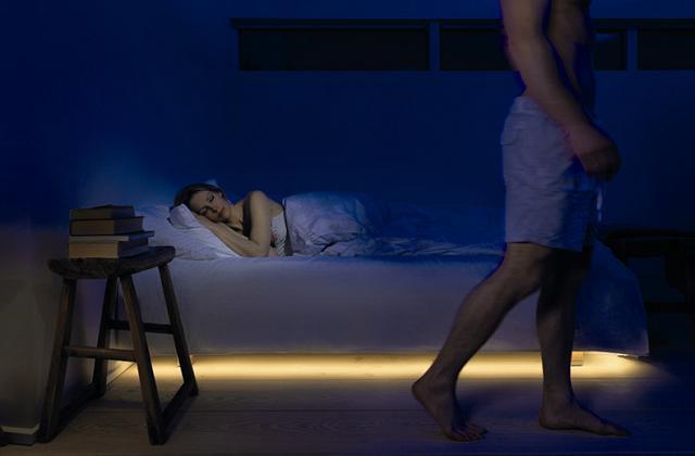 Luzes para o quarto com sensores de movimento