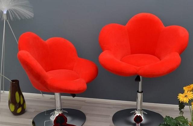 Cadeira-banco em forma de flor