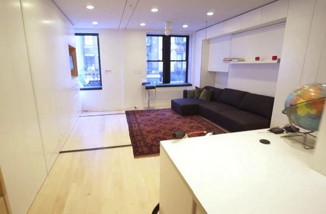 Um apartamento de 37 metros quadrados com 8 confortáveis cômodos