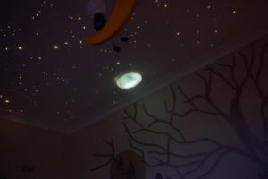 Criando um céu estrelado no teto