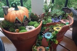 Como construir mini jardins em potes quebrados
