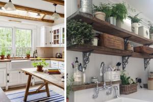 Ideias originais para uma cozinha estilo country