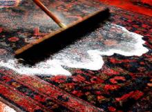 A limpeza do tapete