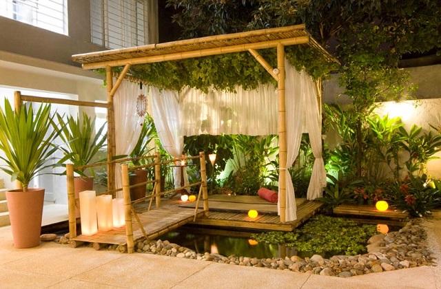 Decorar com móveis em bambu