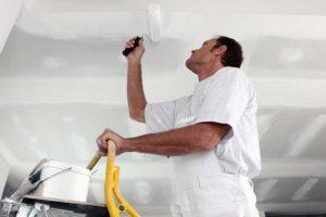 Pintar o teto, sem respingos de tinta