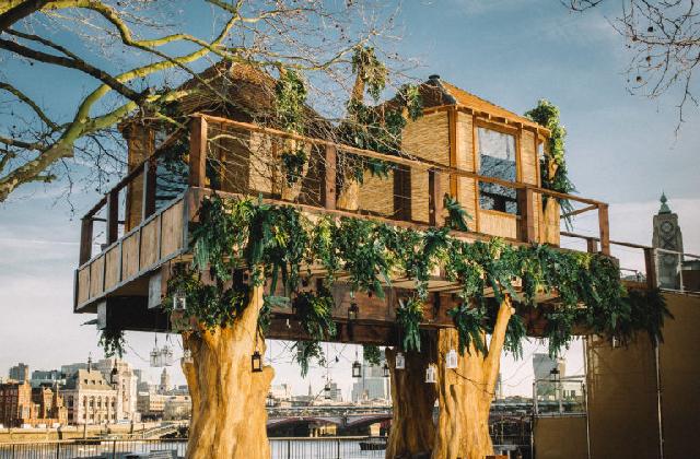 Porque existe uma casa da árvore no centro de Londres?
