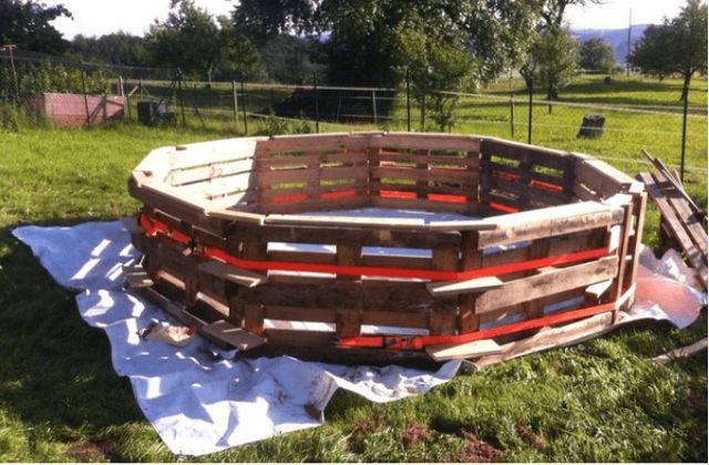 Original projeto faça você mesmo: construir uma piscina com paletes