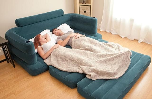 inflável sofá-cama