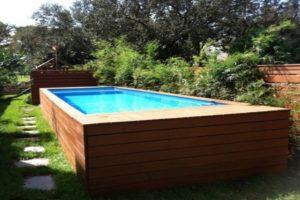 Transformar um container de lixo em uma piscina