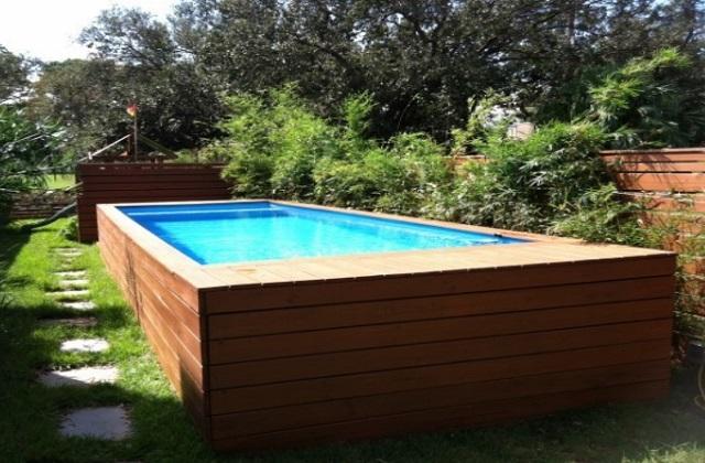 transformar um container de lixo em uma piscina. Black Bedroom Furniture Sets. Home Design Ideas