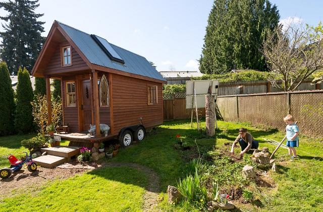 As vantagens de viver em uma pequena casa de madeira