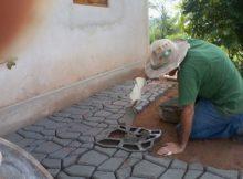 calçada de concreto para o seu jardim