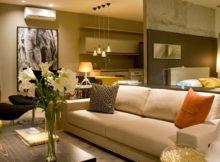 Mobiliar a casa com tons de cinza e marrom