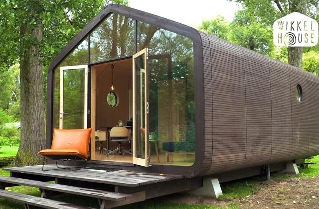 Wikkelhouse, uma casa feita de madeira e papelão