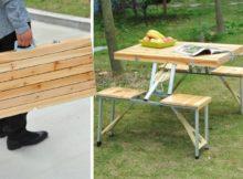 Mesa de piquenique super útil para dias ao ar livre