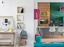Como criar uma área acolhedora de estudo para as crianças