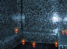 banheiro turco com mosaicos e azulejos artesanais