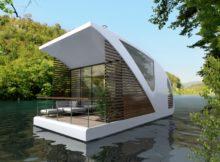 Hospedar-se em um hotel flutuante no lago