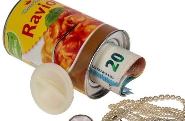 Original cofre secredo: uma lata de ravióli