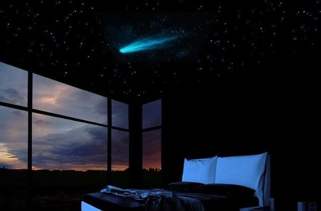 Céu estrelado (com cometa) no Quarto