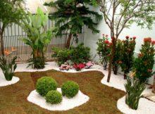 Como decorar o jardim com cascalho: sugestões