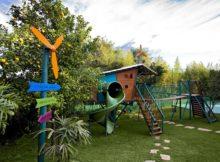 O jardim feito sob medida para as crianças