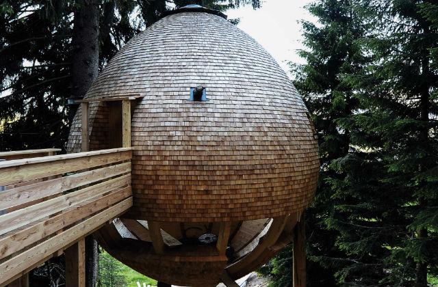 As casas cone de pinho no coração da Europa