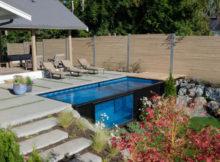 A piscina container que pode ser instalada em alguns minutos