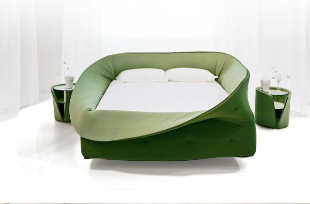 Cama com um design original: a cama com colarinho