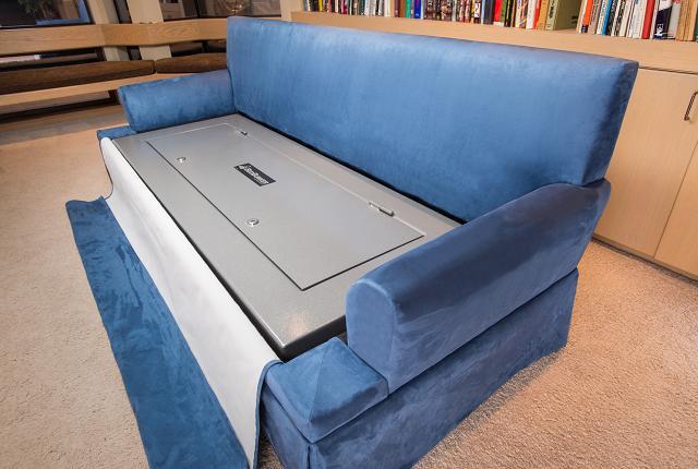 O sofá caixa forte com cofre blindado