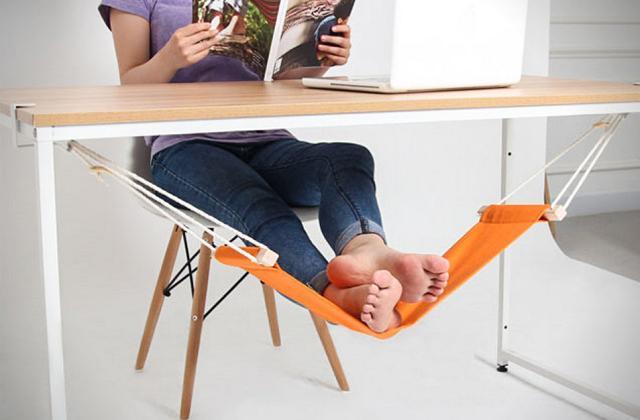 A mini rede para os pés