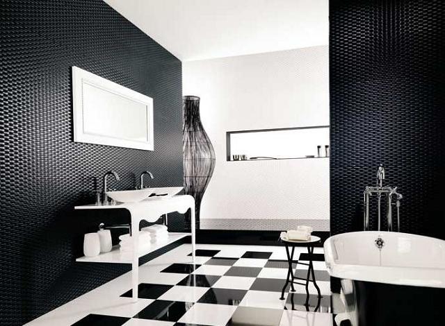Adicione um toque de preto ao seu banheiro