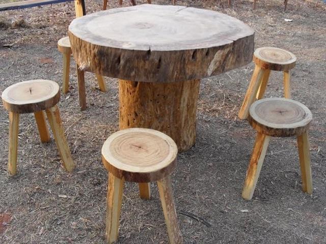 troncos de madeira para decorar a casa