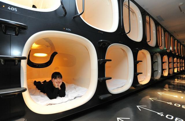 Em Tóquio, pode se dormir no Capsule Hotel