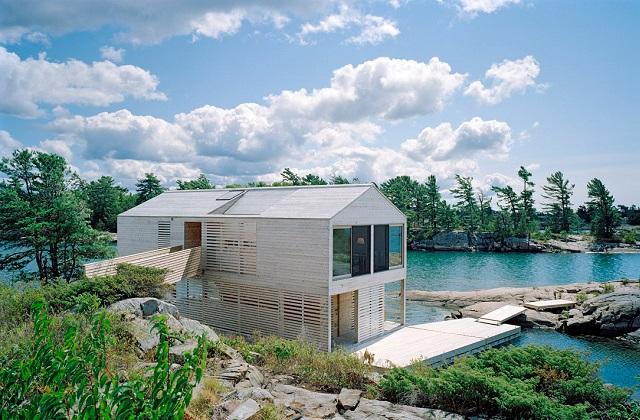 Casas dos sonhos: a vila à beira do lago no Canadá
