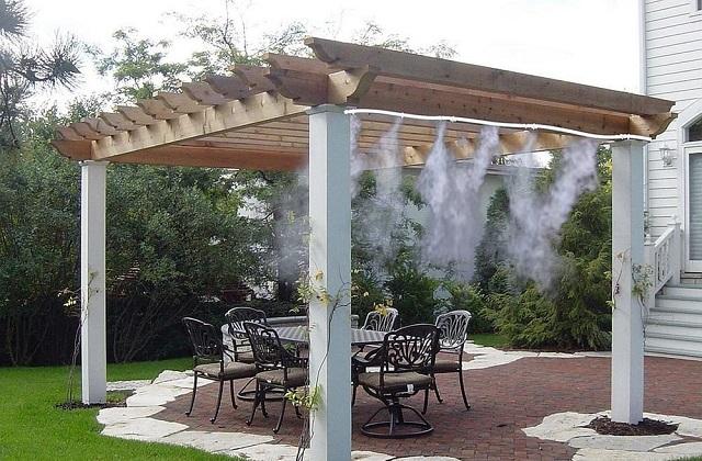 Implantação de nebulizadores para o gazebo e terraços