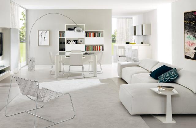 Decorar o apartamento com a cor branca