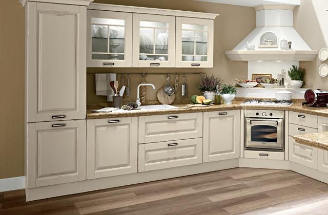 Uma cozinha com um design moderno