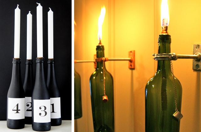 um suporte de vela ou de uma lâmpada