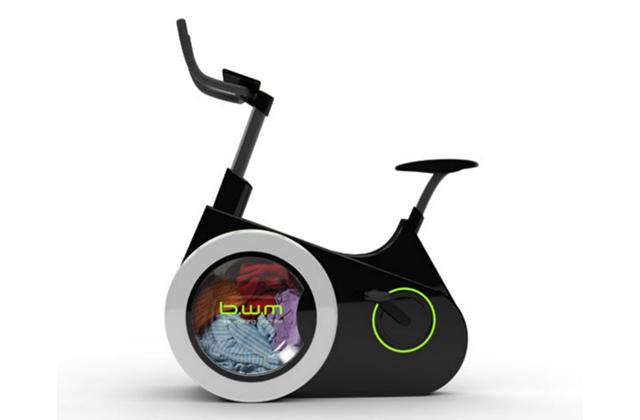 Máquina de lavar roupa sustentável que te coloca em forma