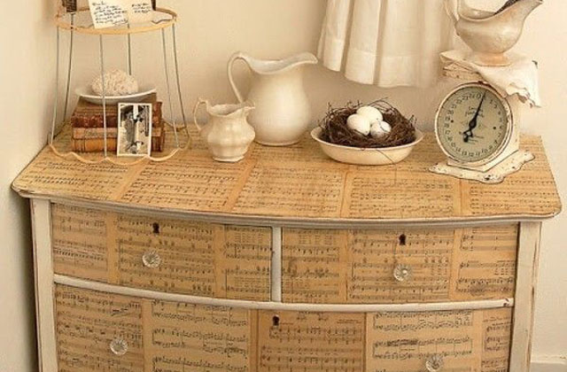 Uma linda cômoda faça você mesmo: sugestões e idéias