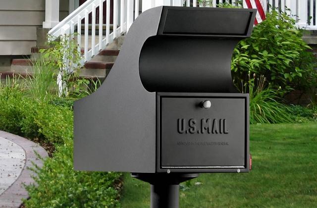 A caixa de correio com cofre