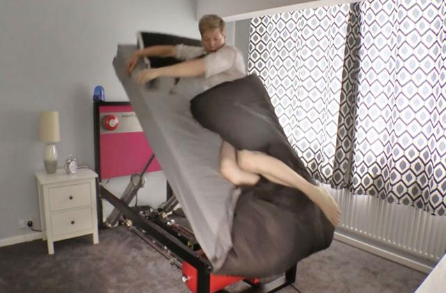 Você tem dificuldade para se levantar de manhã? Ejector Bed ajuda você