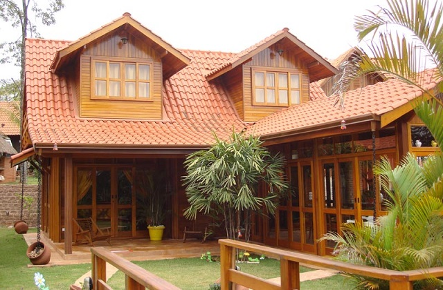 As casas de madeira pré-fabricadas