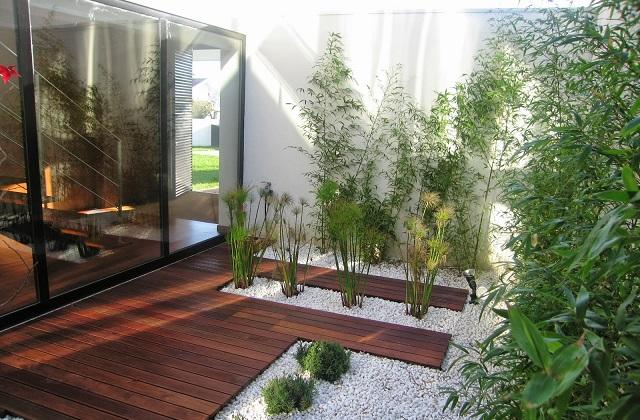Uma solução elegante para o seu terraço: Chão de madeira