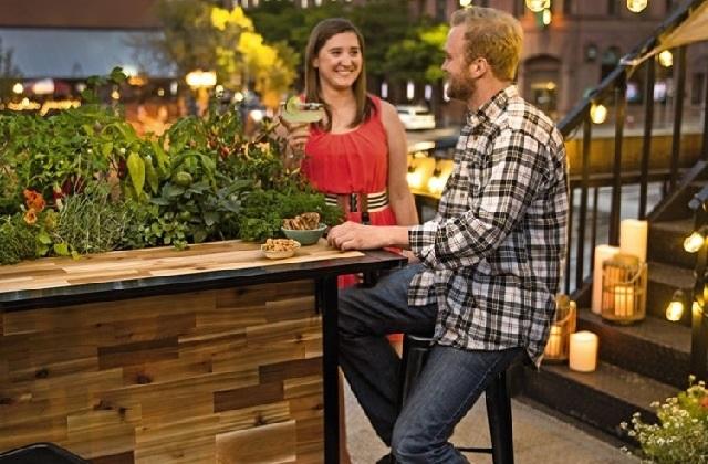 Ideia original para o jardim: Um balcão de bar