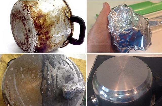 Como remover o holocausto dos cestos com uma folha de alumínio simples
